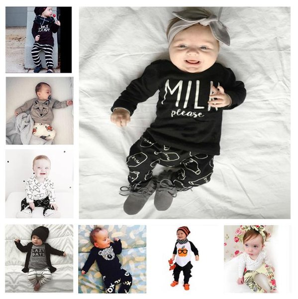 INS Baby boy/Girl Clothing suits Children Clothing Set Newborn Baby Clothes Cotton Baby sets 112 styles for choose