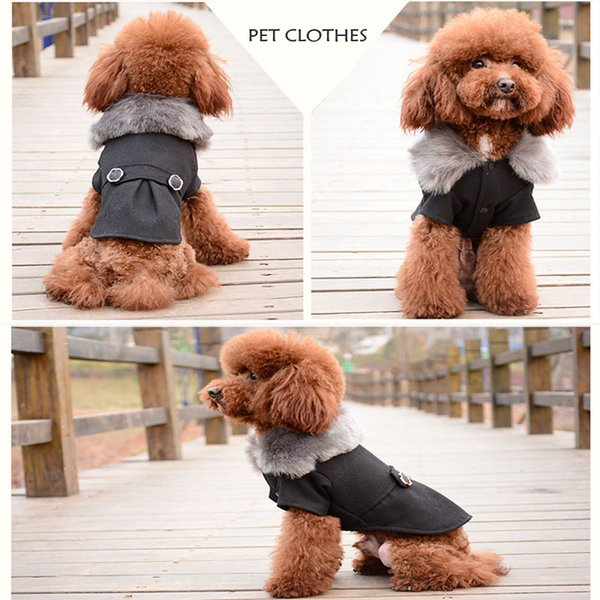 Dog Clothes Warm Puppy Outfit Pet Jacket Hooded Coat With Cap Winter Dog Clothes Soft Sweater Clothing For Small Dogs Chihuahua