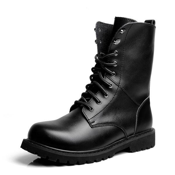 Stiefel Tactical Kalb Großhandel Boot Schwarz Combat Boots Von Moto Schuh Herren Onlinemall016u Outdoor Militär Desert Mid Armee Leder Ybgvfy76
