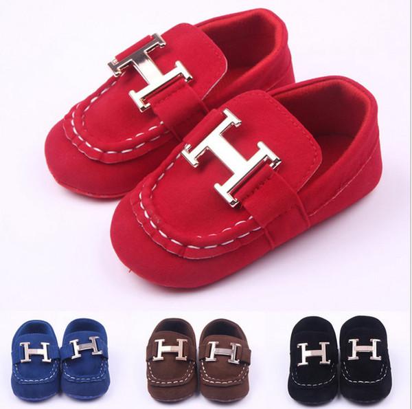 zapatos de bebé Mocasín de cuero calzado infantil zapatos negros para recién nacidos zapatos de cuero para bebés de 0 a 1 año