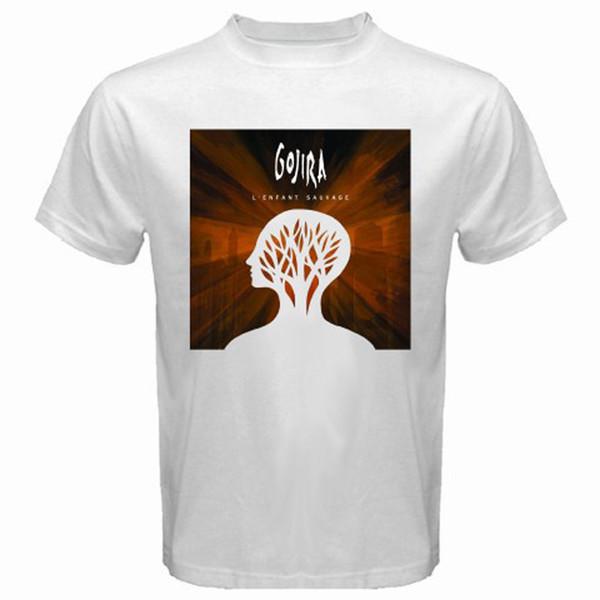 T-shirt bianca uomo GOJIRA Heavy Metal Rock Band taglia S - T-shirt casual estiva uomo T-shirt 3XL nuova 2018
