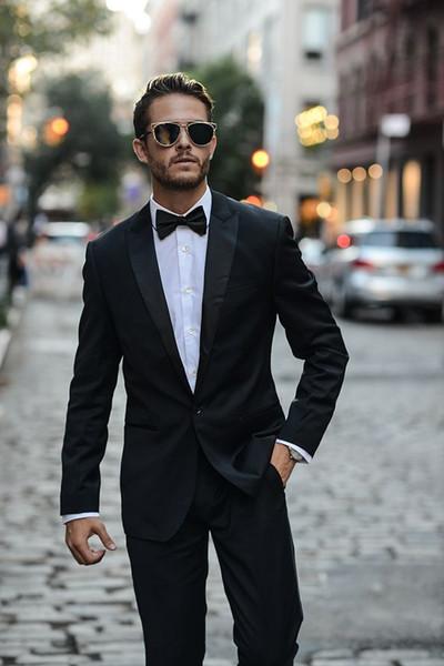 Spring Summer Black Men Suits Custom Made Wedding Suits Blazer Tailored Tuxedo Groom Beach Prom 2 Pieces Tailcoat Slim Fit Terno Masculino