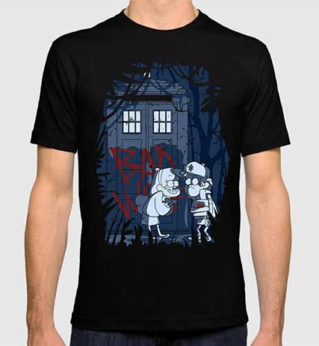 NOVA Gravidade Falls Doctor Who Combo T-shirt, Das Mulheres Dos Homens Todo o Tamanho Dos Homens 2018 moda Marca personalizado impresso tshirt