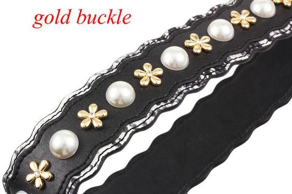 jewel gold buckle