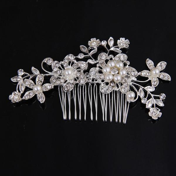Crystal Wedding Hair Comb Rhinestone Tiara Bridal Headpiece Silver Accessories
