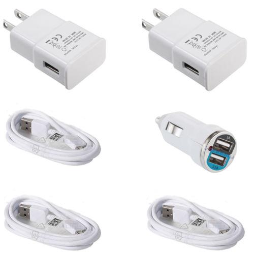 Samsung USB Cable + Car + Wall Home Charger - OEM Quality For Galaxy Note 3 S5