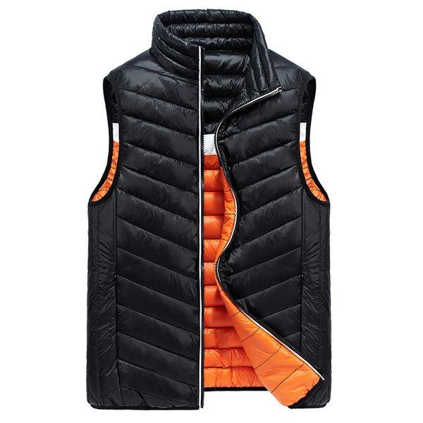 Tropfenverschiffen 2018 neue Ankunfts-Mann-Winter-Reversible Weste Sleeveless Jacket Male Slim Fit Mens windundurchlässige warme Weste XP07