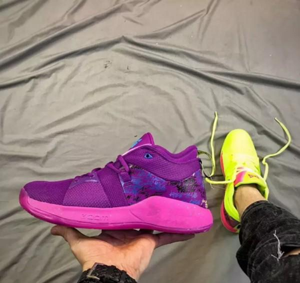 best service f395f c9395 2018 New What The PG 2 EP Duck PlayStation Purple Fluorescent Green  Basketball Shoes Men Paul George II PG2 2s Graffiti Sports Sneakers 7 12  East Bay ...