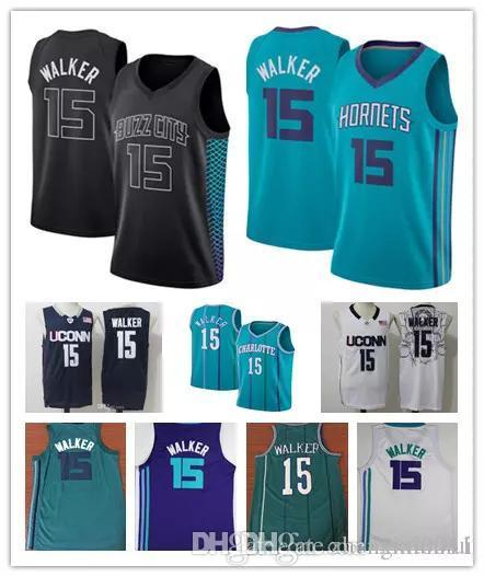 new concept 35e7e f0d83 2018 2018 Mens City Edition Stitched 15 Kemba Walker Jersey Purple White  Black Basketball Kemba Walker Uconn Huskies College Jersey From Xixi0022,  ...