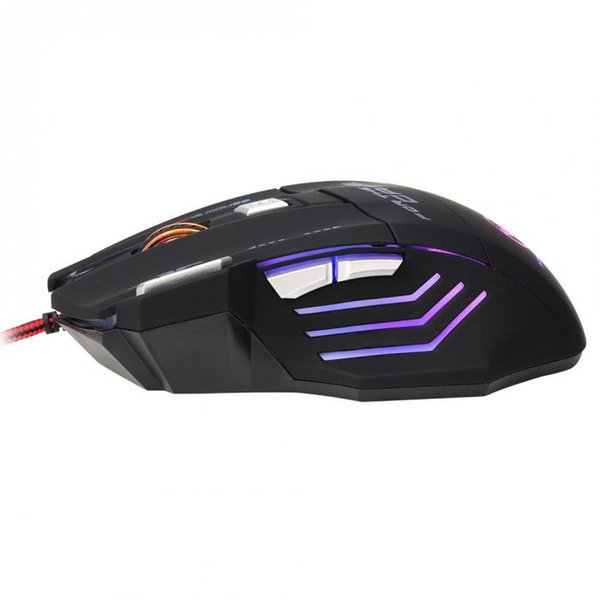 New 5500dpi LED Optical USB Wired Gaming Mouse Colorful Luminous PC Laptop Computer Mice for Gamer QJY99