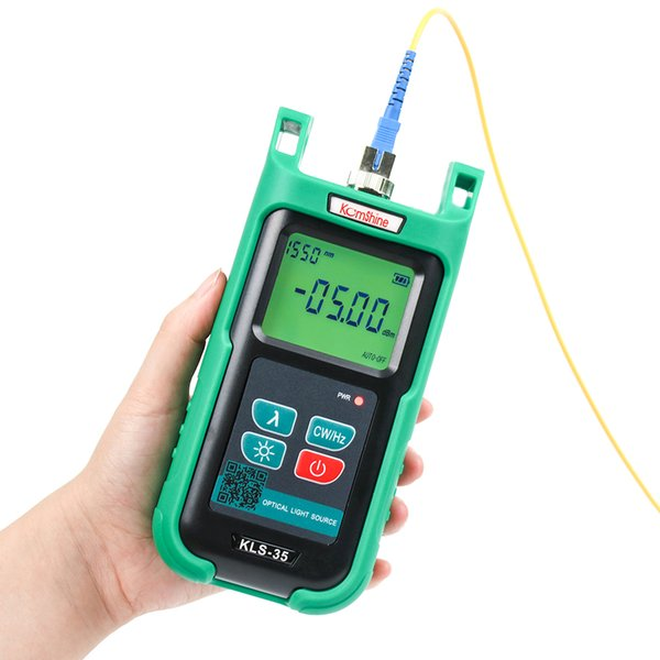 FTTH Tester fuente de luz de fibra optica Optic fiber light source KLS-35-P FTTx Fiber Laser Source 1310/1490/1550nm