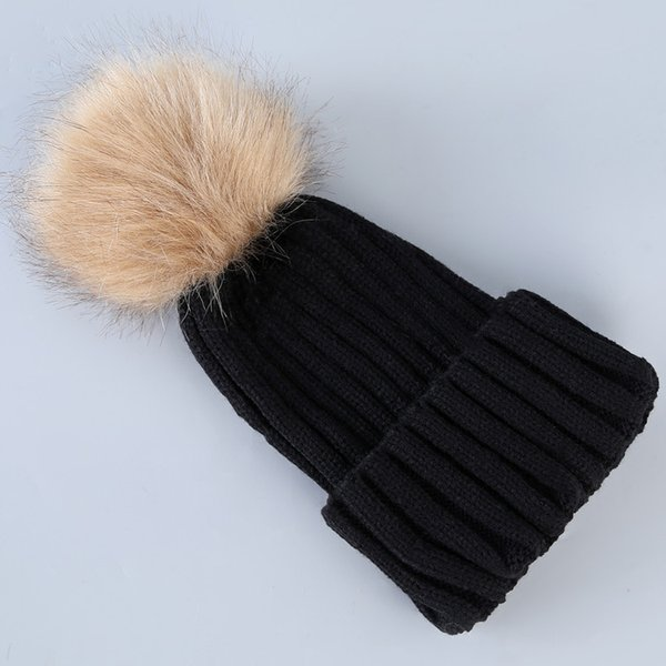 Hot selling New Women Girl Trendy Hat Winter Knitted Poms Beanie Skull Caps Fashion Outdoor Ball Hats