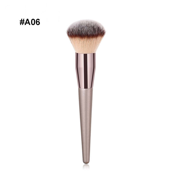 Premium Make up brush Champaign gold color wood handle makeup tool & accessories single cosmetic brush for Eyeshadow Blush DHL Free