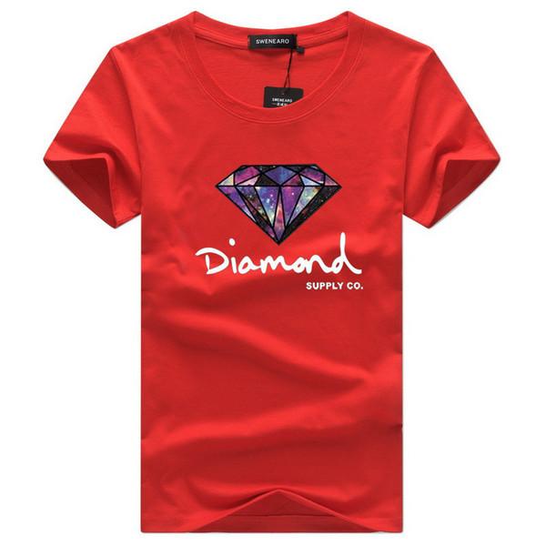 Nouvelle lettre de mode hommes d'impression chemise courte 2018 coton d'été Tops Mâle Tees Streetwear manches Planche à roulettes Vêtements Hip Hop Diamant