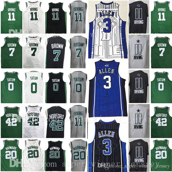 NCAA college 2018 new 11 Kyrie Irving 0 Jayson Tatum Jersey 7 Jaylen Brown 20 Gordon Hayward 42 Al Horford Jerseys All Star University Free