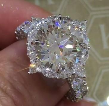 wondrful silver diamond crystal women''s ring size 6 7 8 9 10 (3.8)