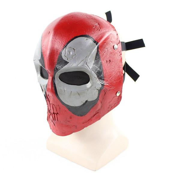 1Pcs maschera morta in resina di alta qualità COS Marvel eroe in stile eroe morte videogioco maschera maschera di Halloween partito horror