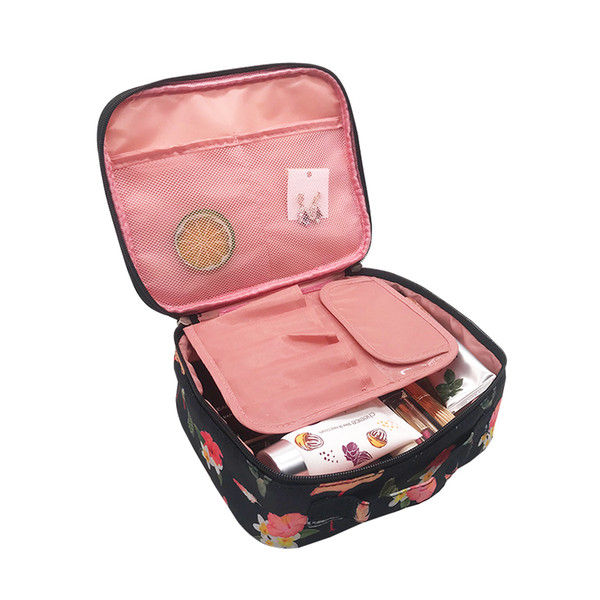 Portable Travel Cosmetic Bag Zipper Women Lip Make Up Pouch Girl Makeup Case Beauty Wash Organizer Toiletry Case Accessories Lot