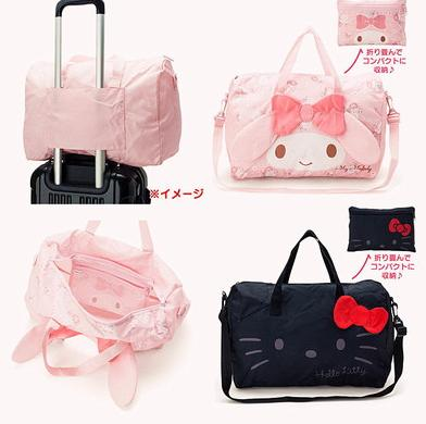New Japanese cute new Hello kitty melody A total of 4 can be folded into a lovely travel bag series