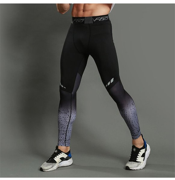 Tight trousers male Fitness and sports underpants Running training trousers High elastic and fast dry ventilated