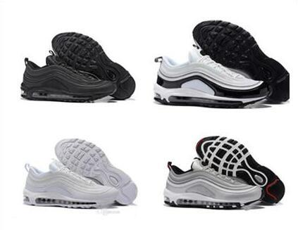 buy popular b9048 d5e57 2018 Sales 2018 New Vapormax 97 Og X Bullet Sports Shoes Black White Gold  Silver Men 97s Ultra Sean Wotherspoon Women Air Undefeated Off Sneakers  From ...