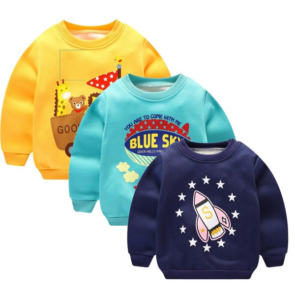 Children sweatshirts for girls Cartoon boys hoodies kids Baby Thick fleece pullover Sweatshirts Outwear Sweater 1 2 4 5 years Y1892907