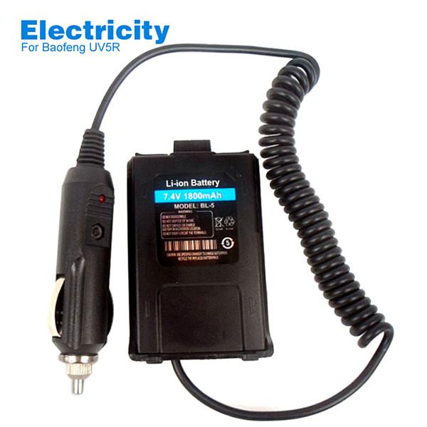 Borrow Eletricidade Bateria Eliminator Carregador de Carro Para BAOFENG UV-5R UV5RA Rádio Em Dois Sentidos UV 5R UV-5RA Walkie Talkie Acessórios