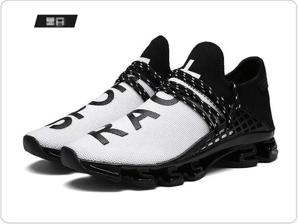 NOUVEAU grande lame de code de printemps chaussures de course en cours d'exécution version han de la surface nette respirante chaussures de marche occasionnels, Big yards hommes femmes 48G0.6