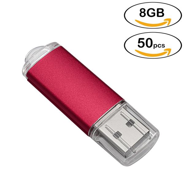 Bulk 50pcs Flash Pen Drive Rectangle 8GB USB Flash Drives High Speed 8gb Memory Stick for Computer Laptop Tablet Thumb Storage Multicolors