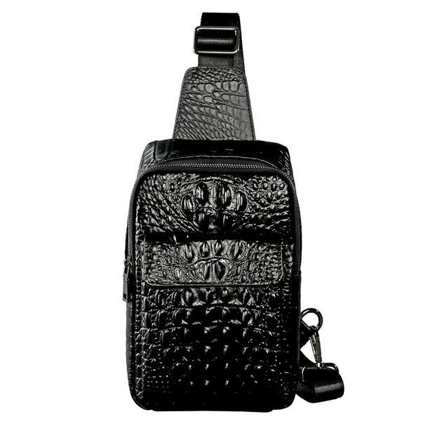 Bags Paradise11 Marke Herren Echtes Leder Messenger Von Brust Pack Schulter Muster Großhandel Bag Krokodil Crossbody Sling Brusttasche Casual lcFT3JK1