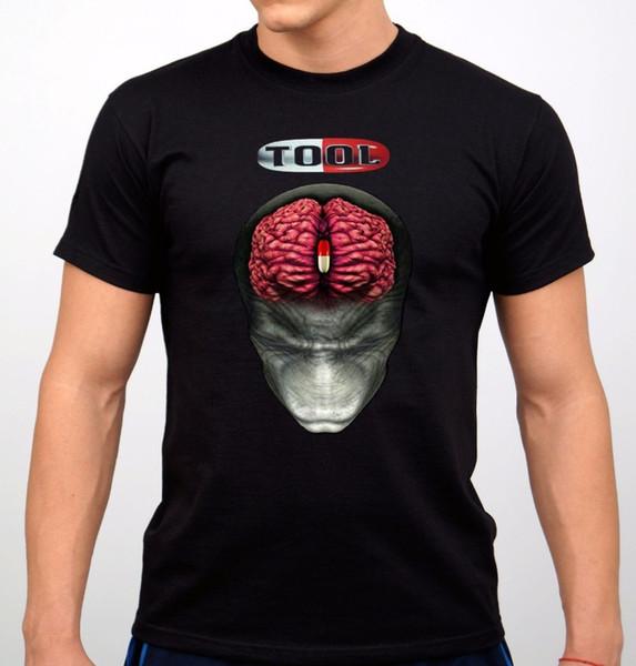 2018 Short Sleeve Cotton T Shirts Man Clothing TOOL Rock Band T-Shirt Black NewT-Shirt Summer Style FunnyTops Cool T Shirt