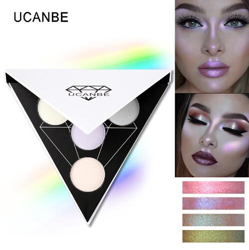 triangle glitter eyeshadow palette holographic shade eye lip face makeup shimmer shine nude eye shadow