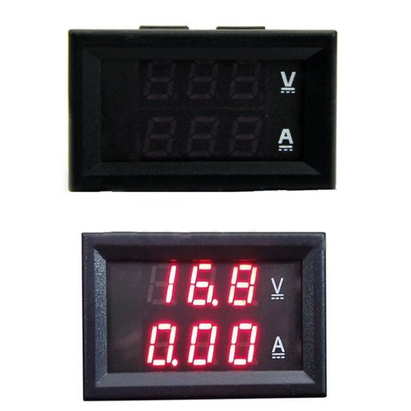 1 Piece Design LED Panel Amp DC 0-100V 50A Dual Red Digital Voltmeter Ammeter Panel Amp Volt Gauge Volt Meter