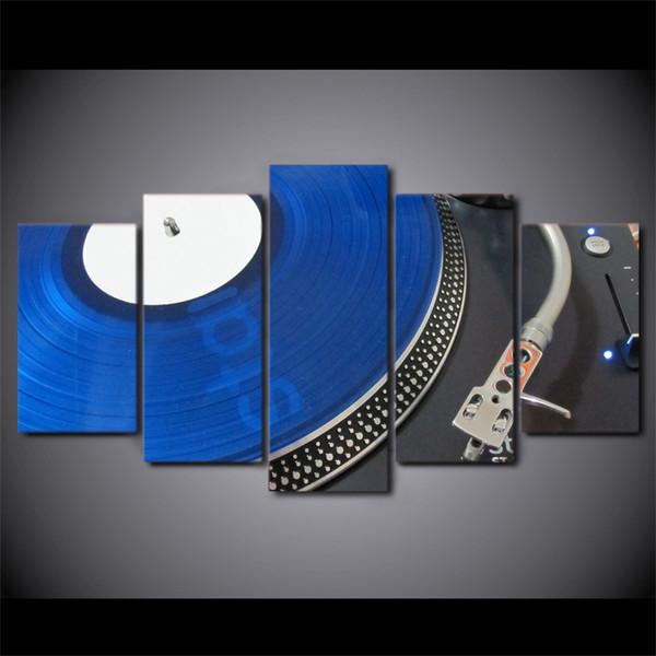 Acheter Hd Imprimé 5 Pièces Toile Art Peinture Bleu Vieux Record Dj Image Mur Affiche Pour Salon Home Decor Livraison Gratuite Ny 7292c De 33 83 Du