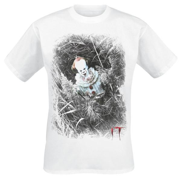 It - Стивен Кинг Pennywise - Скрытая футболка белого цвета с принтом футболки с принтом футболки с принтом Футболка с принтом Cool xxxtentacion футболка