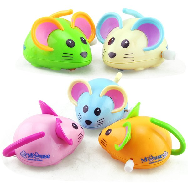 Cross-border clockwork chain small toys on children A little mouse toy street wholesale baby educational cartoon animals
