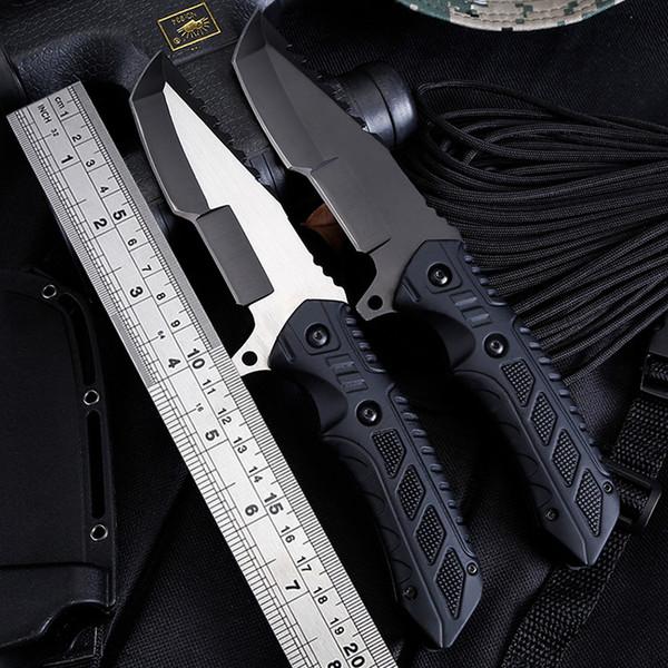 Nuevo Cuchillo de supervivencia de caza de alta dureza Cuchillo de supervivencia de acero frío Cuchillo recto 3CR13 57RC Cuchilla de acero Cuchillos de caza para exteriores