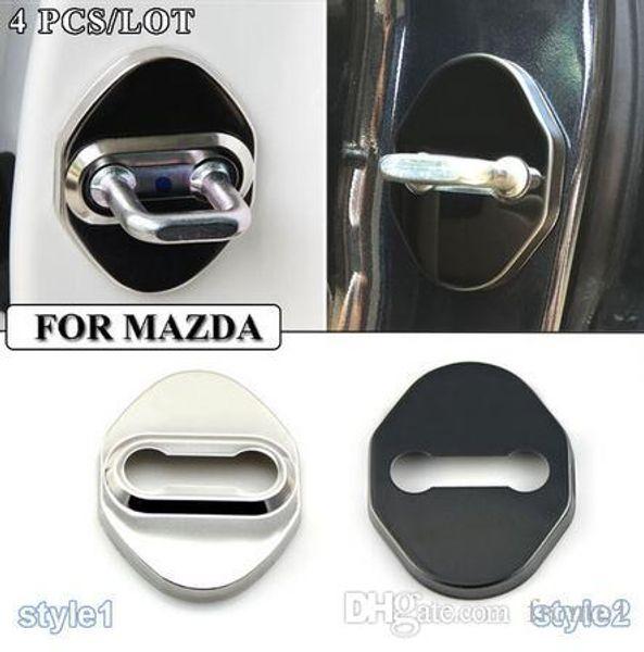 Araba-Styling Paslanmaz Çelik Kapı Kilidi Dekorasyon Koruma Kapak Kılıf CX 5 CX-5 CX5 Mazda 3 Mazda 6 Mazda 323 Araba Styling