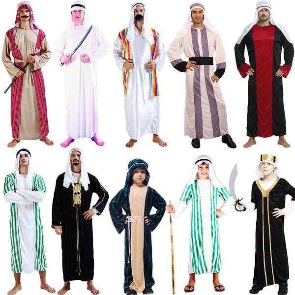 arabische Kleidung Kinder chileren Jungen griechische Göttin Cosplay Prinzessin Kostüme arabische Prinz Kostümfest Halloween Frauen Männer