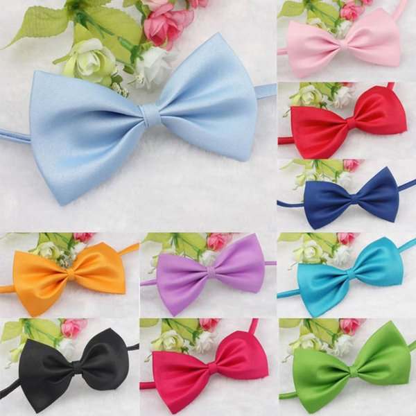 New Candy colors Fashion Cute Dog Puppy Cat Kitten Pet Toy Kid Bow Tie Necktie Clothes decoration pet accessories