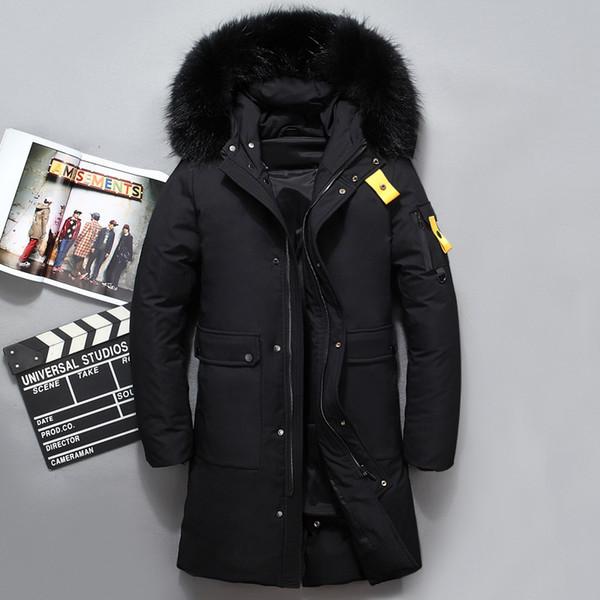 71f8802f Compre Cálida Chaqueta De Pato De Invierno Para Hombre Abrigo De Nieve Con  Piel Real Outwear Con Capucha Cuello Parkas Abrigo Engrosamiento De Los ...