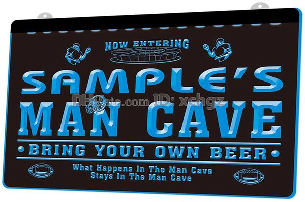 [F585] Personalized custom men's rugby beer bar NEW 3D Engraving LED Light Sign Customize on Demand 8 colors