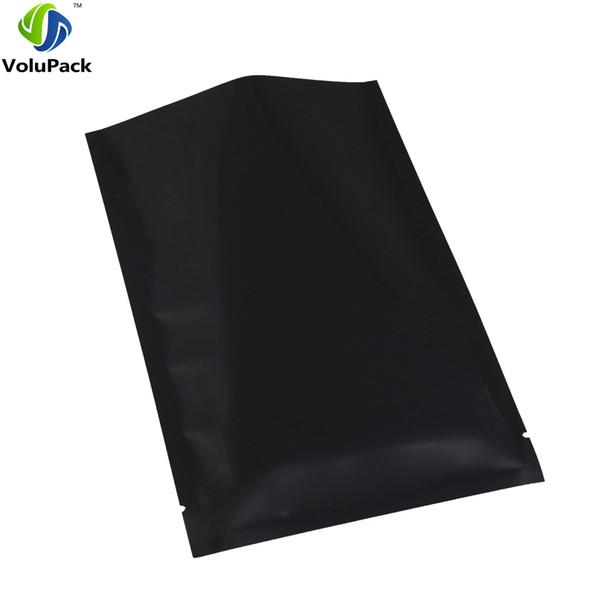"10x15cm/ 4x6"" black top open Herb Packing Bags heat seal Aluminium Foil mylar vacuum plastic pouch 100 pieces/lot"