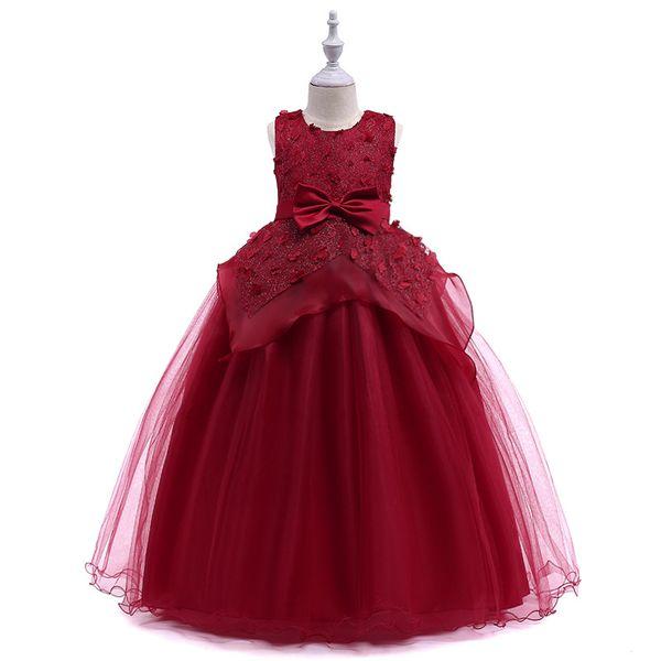 Vieeoease Girls Princess Dress Flower Kids Clothing 2018 Summer Fashion Sleeveless Vest Lace Tutu Girls Wedding Dress EE-923