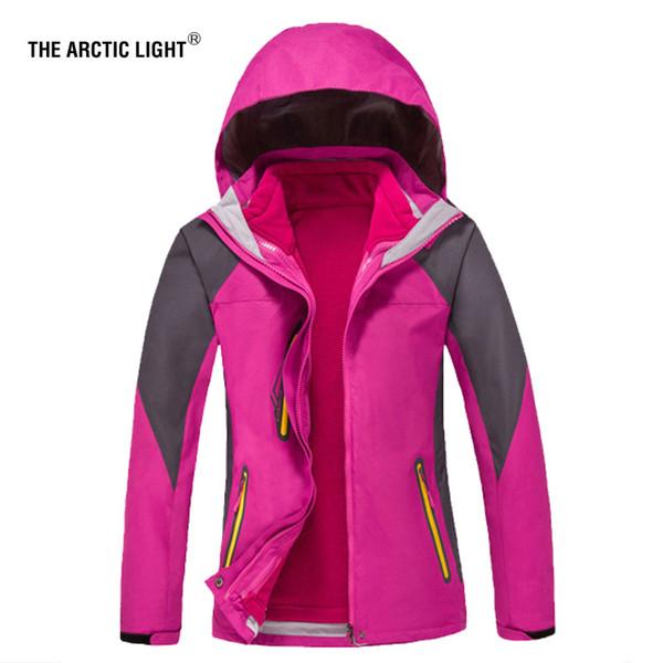 THE ARCTIC LIGHT Hiking Jacket 2018 New Arrive Mujeres de alta calidad Coat + forro 3 en 1 Outdoor Camping Winter Warm traje de esquí