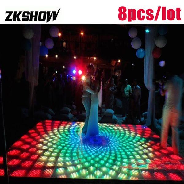 Bengalas De Boda 15 * 15 Pixel RGB LED Digital beleuchtete Hochzeits-Tanz-Fußboden-50 * 50CM Partei-DJ-Disco-Stadium beleuchtet Ausrüstung 230V Freies Verschiffen