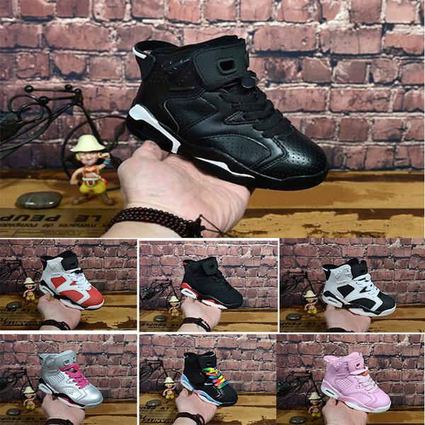 Nike air max jordan 6 retro Toptan Yeni İndirim Çocuklar 6 bebek Basketbol Ayakkabıları unc altın siyah kırmızı çocuk 6 s Erkek Sneakers Çocuk Spor düşük eğitmenler boyutu 28-35