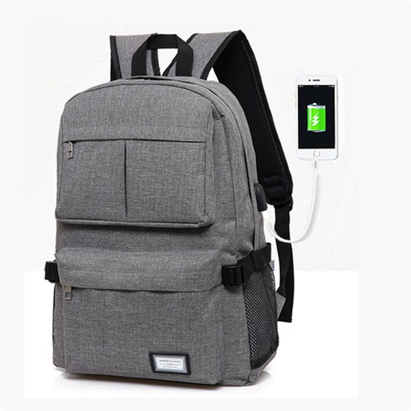 Usb Charge Unisex Backpack Book Bag For School