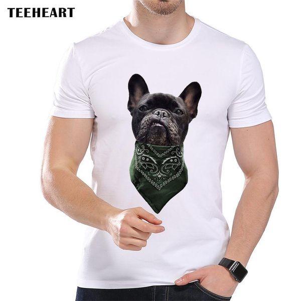 Bandana gangsters Bad Dog Negro lindo de Boston Terrier gracioso Broma camiseta de los hombres Tee