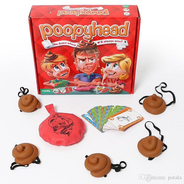 Xmas Funny Poopyhead Card Games The Game Where Number 2 Always Wins Family Party Fun Board Games Tricky Toys Halloween tricky tools interets